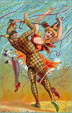 Vintage Mardi Gras Illustration