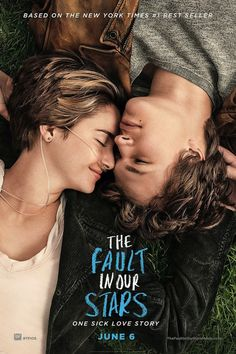 """the movie adaptation of John Green's book """"The Fault in our Stars"""" starring Shailene Woodley and Ansel Elgort.......everyone needs an Augustus Waters in their lives."""