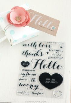 cards and packaging ideas using stamp set from Inspirationave.com