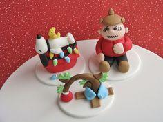 Charlie Brown Christmas Cupcake Toppers