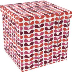 "Great new Storage Ottoman - 15"" By 15"" - Warm Flower pattern.  Perfect for extra storage!"