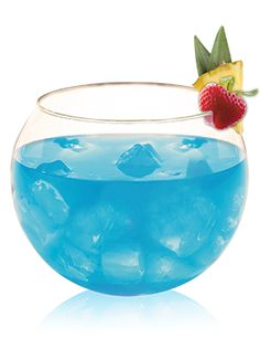 A delicious recipe for a Blue Breeze made with Hpnotiq liquor.