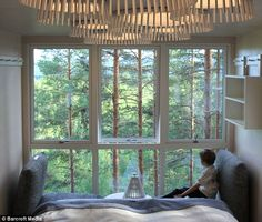 Swedish forest tree house hotel