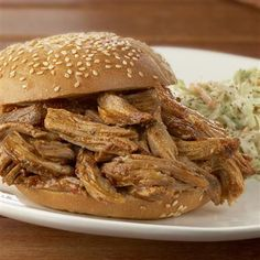 Slow Cooker Pulled Pork Barbecue: Perfect for a weeknight meal!