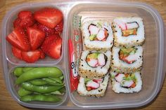 I always run out of lunchbox ideas.  Problem solved.