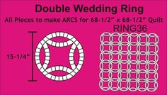 Ring 36 Double Wedding Rings - this is one paper piecing quilt I would like to try - just one of many I would like to try!  Did a 3600 piece Grandmothers Flower Garden using one inch hexagon paper pieces from paperpieces.com