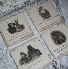 someone make these with me! awesome coasters.