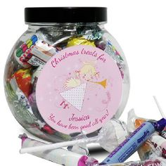 Angel Design Personalised Jar Of Sweets
