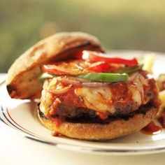 I'm so making these for our tailgate crew this season: Grilled Italian Meatball Burgers Recipe #Ultimate Tailgate and #Fanatics