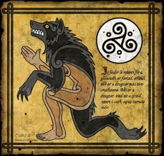 "The Irish werewolf is different from the Teutonic or European werewolf, as it is really not a ""monster"" at all. Unlike its continental cousins, this shapeshifter is the guardian and protector of children, wounded men and lost persons. According to some ancient sources, the Irish werewolves were even recruited by kings in time of war. Known in their native land as the faoladh or conroicht, their predatory behaviour is typical of the common wolf, not beneath the occasional nocturnal raid."