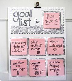 Pretty goal list!