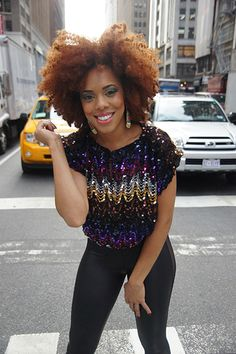 kinky curly, hair colors, rock
