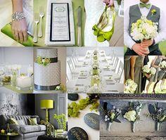 Gray and Green Wedding
