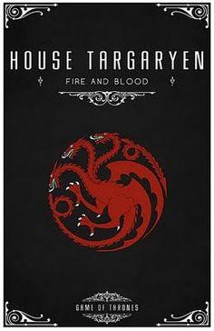 House Targaryen -   Alternative and minimalist poster - Game of Thrones - By Thomas Gateley, http://www.flickr.com/photos/liquidsouldesign/  Visit: http://spotseriestv.blogspot.com