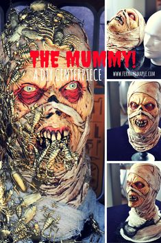 DIY Creepy Mummy Centerpiece! #fun365 #halloween #diyhalloween #partyideas