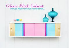DIY Color Block Cabinet. This is great!