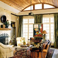96 Living Room Decorating Ideas | Get Creative with Your Ceiling | SouthernLiving.com