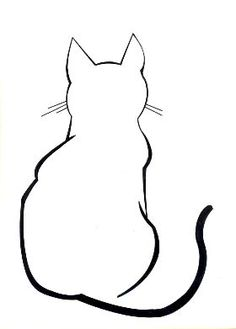 Cat Line Art. this is super cool the simple line art of this cat is three toned and super simple