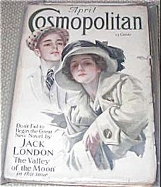"$73 vintage Honeymoon couple Cosmopolitan magazine for 4/1913. Cosmo Cover by Harrison Fisher ""Welcome Home""."