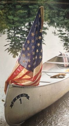 summer picnic, flag, fourth of july, red white blue, 4th of july, lake, boat, cano, summer scenes