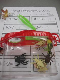 Mrs. Morrow's Kindergarten: Subtracting with Insects. *Change the recording sheet!*