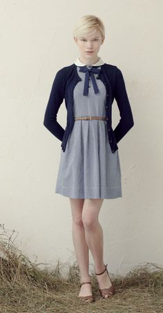 Betina Lou S/S 013 Collection - Ronette Dress Blue & Lucy Cardigan Navy
