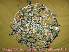 The Chicken Chick®: Chicken Wire, Lighted Christmas Balls. 'Tis the Season!
