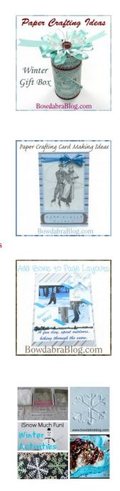 Featured paper crafting & winter craft projects