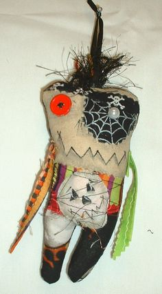 Mini Pirate Monster  Voodoo Doll  Ornament  3 by FromGramsHouse
