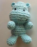 Free Amigurumi Crochet Pattern: Happy Hippo