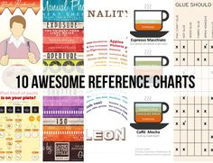 10 AWESOME REFERENCE CHARTS (I love infographics!)