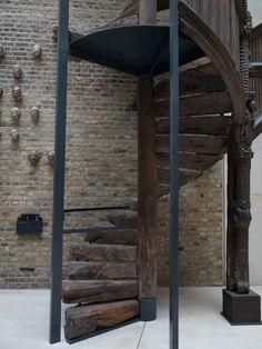 Primitive spiral staircase. Amazing!