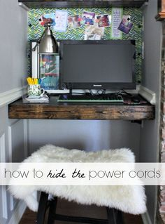 Hi Sugarplum | How to Hide the Power Cords under the Desk!!