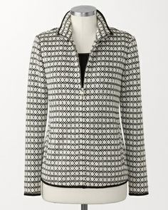"""""""Dots"""" Zip Jacket (from Coldwater Creek; style K21314)"""