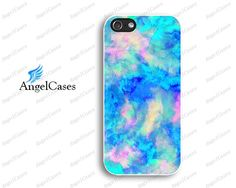 turquoise watercolor iphone 5 case iphone 5c iphone by Angelcases