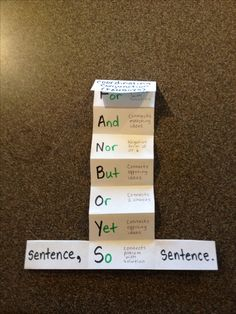 Idea for a lesson on conjunctions in compound sentences. Picture only. Definitely going to make this foldable to go in their INB this week!!!