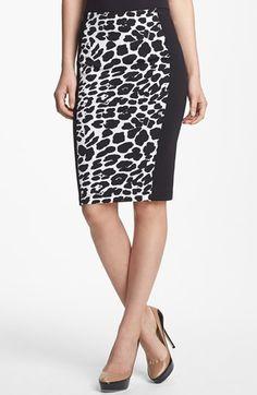 Animal Print Pencil Skirt