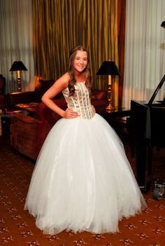 A pretty Bat Mitzvah dress from Outrageous Boutique.