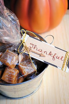 """Love this idea for a """"thankful"""" gift tag from @DecoArt Inc.!"""