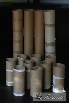 Tons of ways to use paper rolls. :)