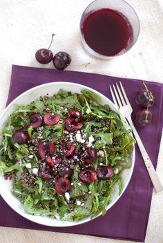 Cherry, Arugula, and Quinoa Salad