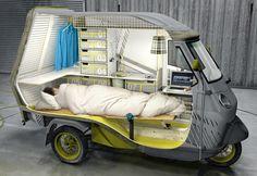 Camping car - Scooter pour les livraisons dès la première heure.