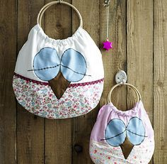 Owl bags with pattern