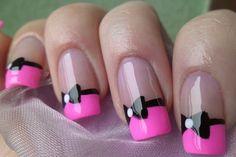 32  Beautiful Summer  Nails Ideas Nails Art, Bows Ties, Nails Design, Pink Nails, Bows Nails, Nailsart, Summer Nails, Nails Ideas, French Tips