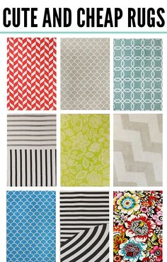 We love these cute and affordable rugs!