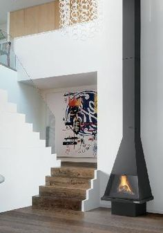Chimeneas on pinterest stove fireplace fireplaces and - Chimenea de esquina ...