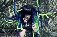 #Vampirefreaks model Pyschara showing off her #Cybergoth style