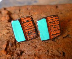 Geometric Composition -  Square Post Earrings.