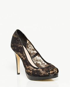 Lace Peep Toe Pump ... MUST HAVE THESE