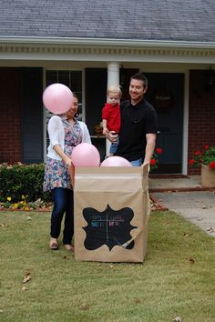 gender reveal party idea - great for second child party!